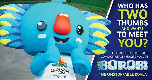 Borobi – the Official Commonwealth Games Mascot Koala