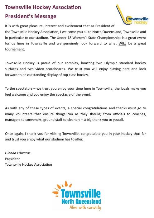 Townsville HA President ...